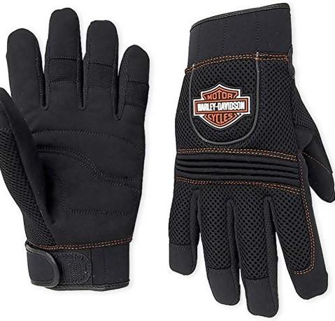 Harley-Davidson Men's Bar & Shield Full-Finger Mesh Gloves 98263-07VM