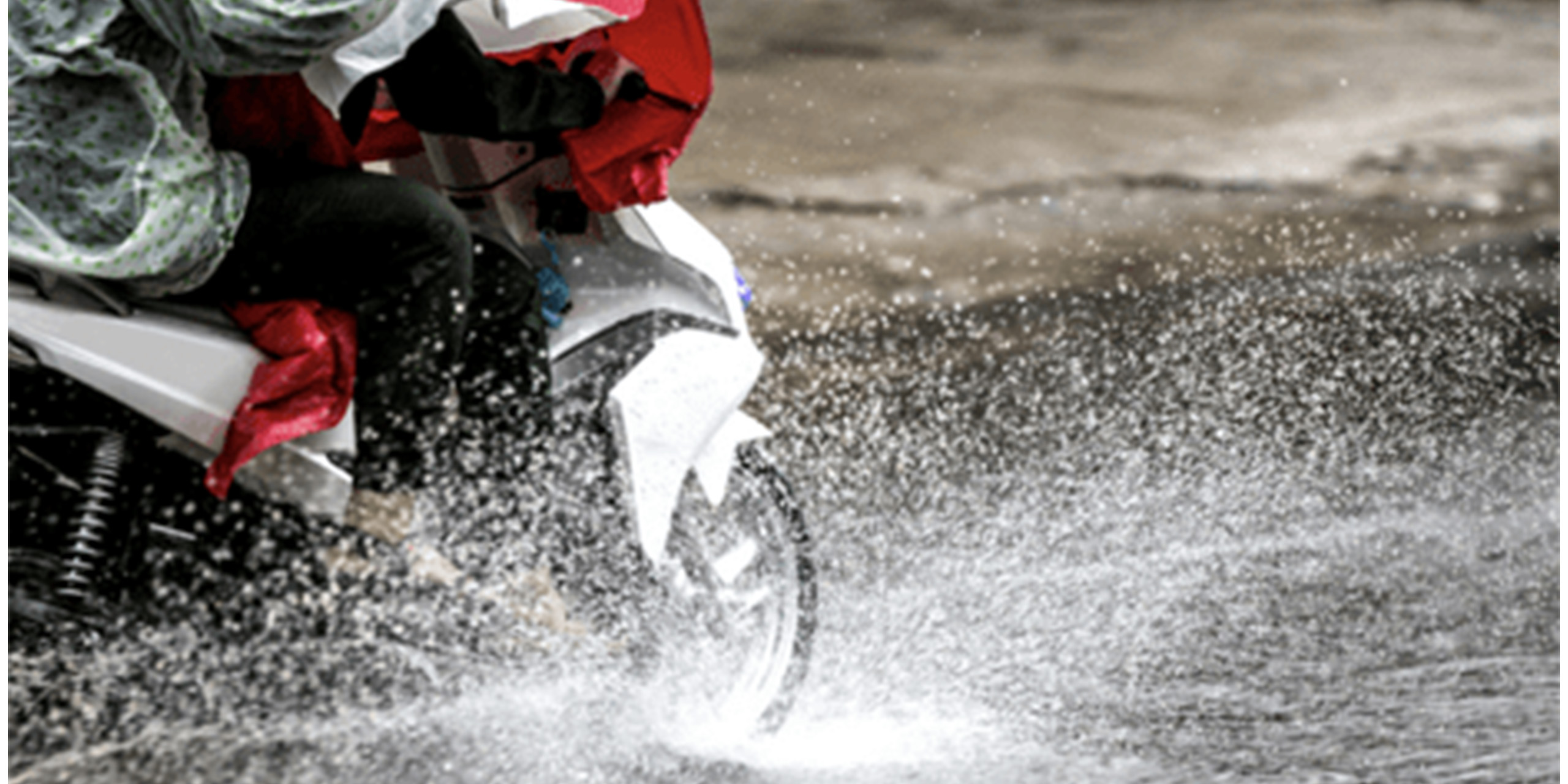 how to ride motorcycle in the rain