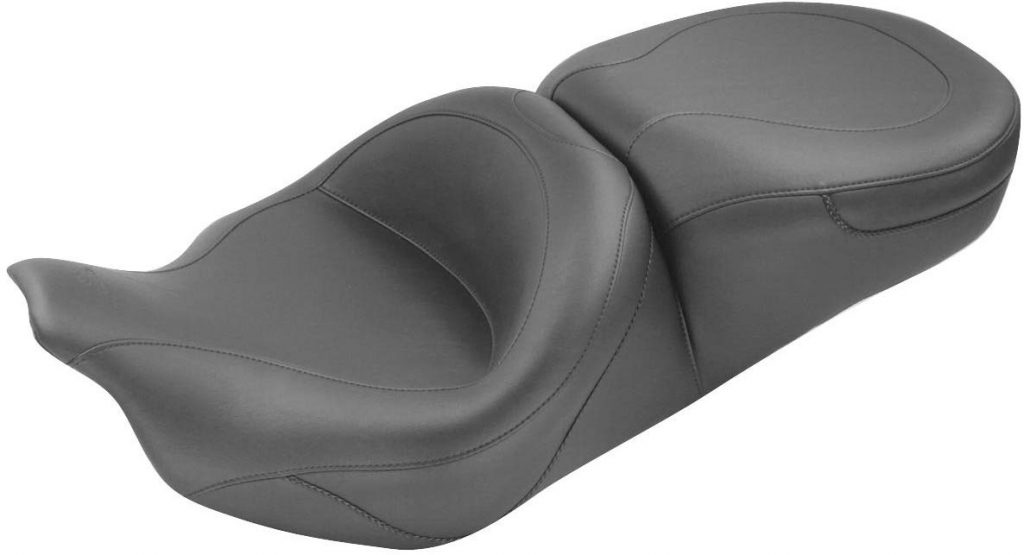Mustang 76033 One-Piece Touring Seat compatible for HD FL 2008 to 2018