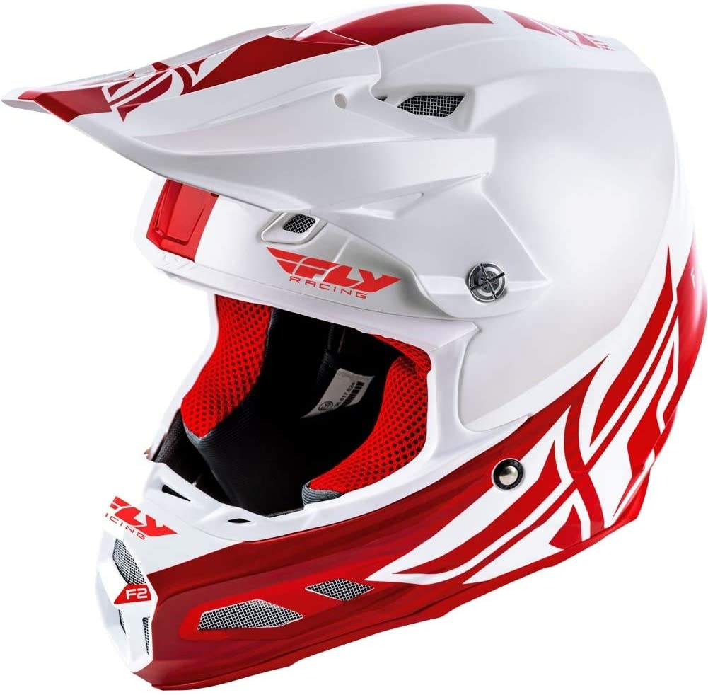 FLY RACING F2 CARBON MIPS SHIELD HELMET WHITE:RED LG