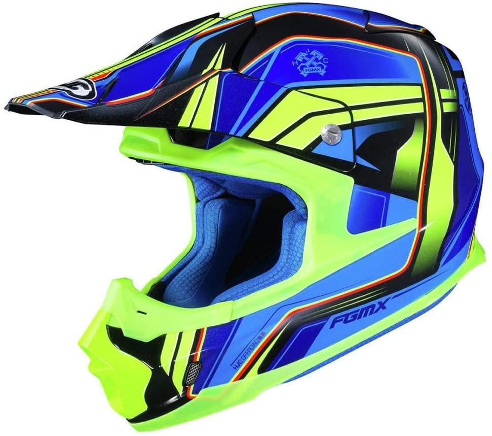HJC FG-MX Helmet - Piston (Large) (Blue/HI-VIZ)
