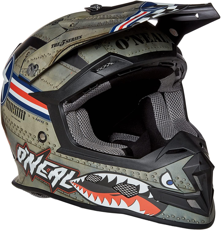O'Neal 5 Series Unisex-Adult Wingman Full Face Helmet (Multi/White, X-Small)