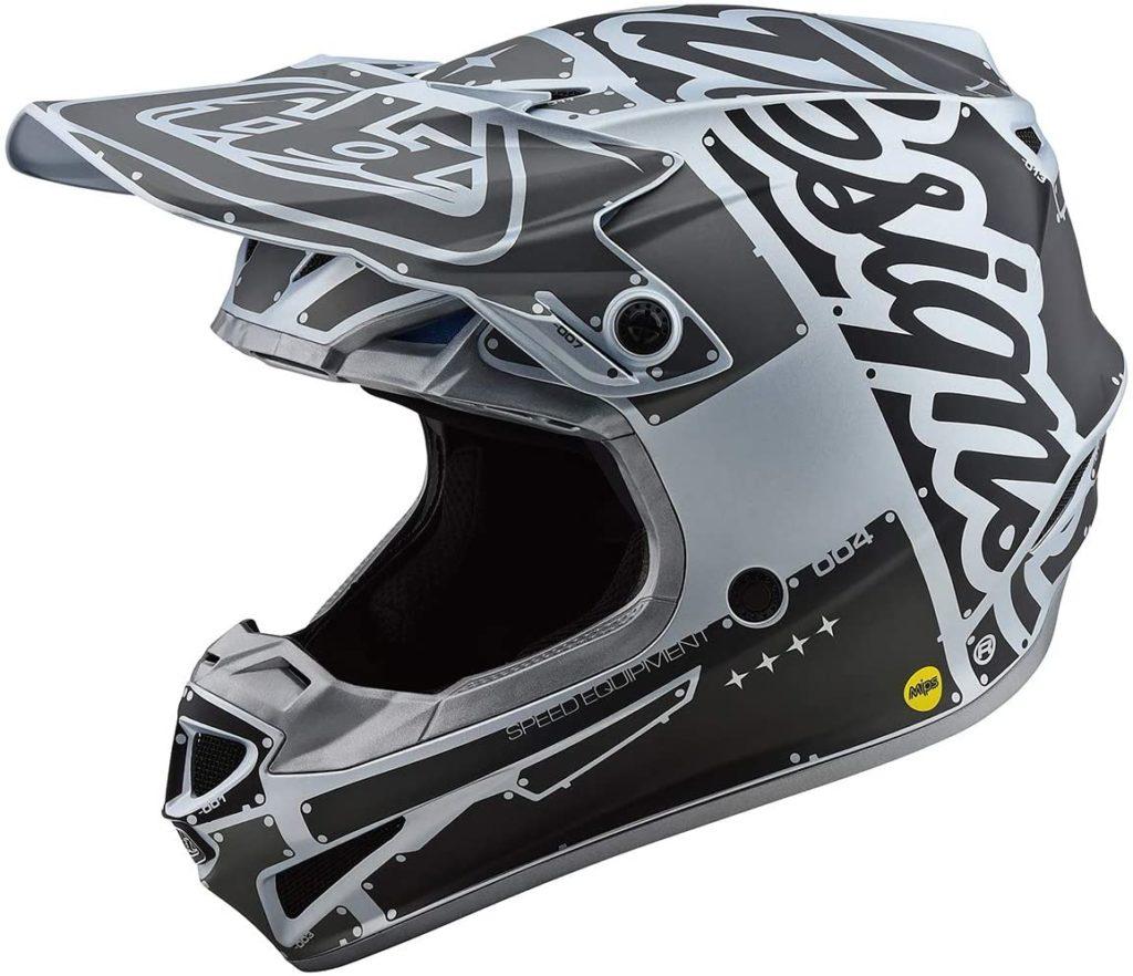 Troy Lee Designs SE4 Polyacrylite Factory Adult Off-Road Motorcyle Helmet - Silver/Large