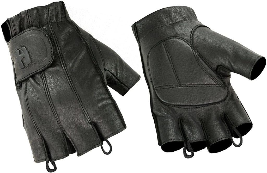 Hugger Fingerless Motorcycle Riding Gloves