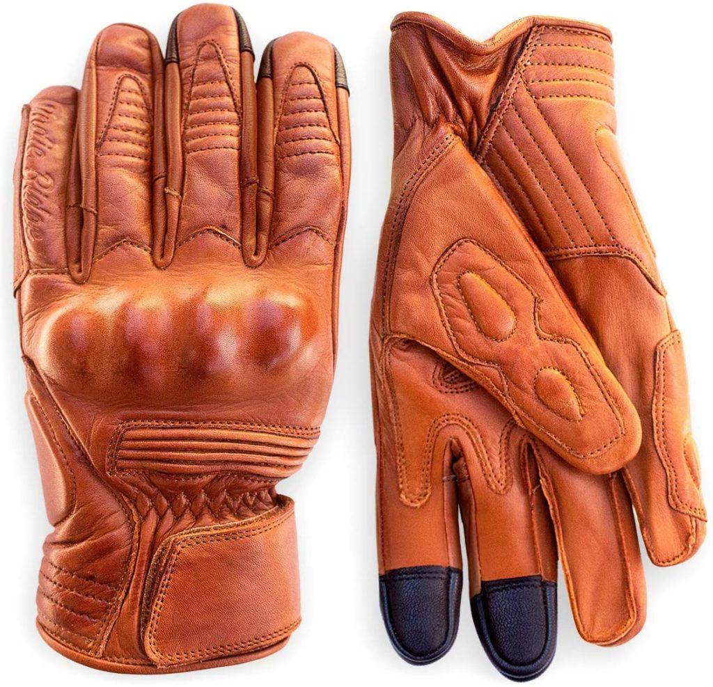 Indie Ridge Leather Motorcycle Gloves
