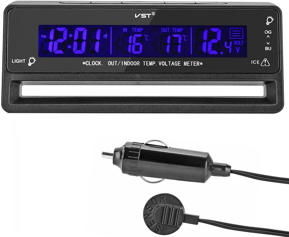OLLGEN Digital Clock in/Out Thermometer