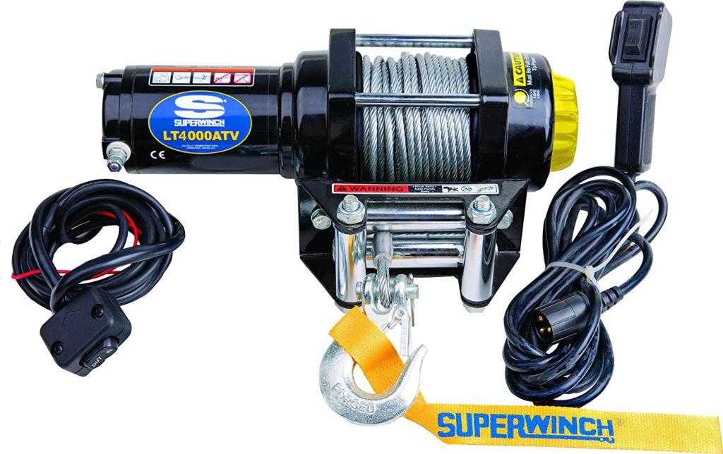 Superwinch 1140220 Black 12 VDC LT4000ATV Winch