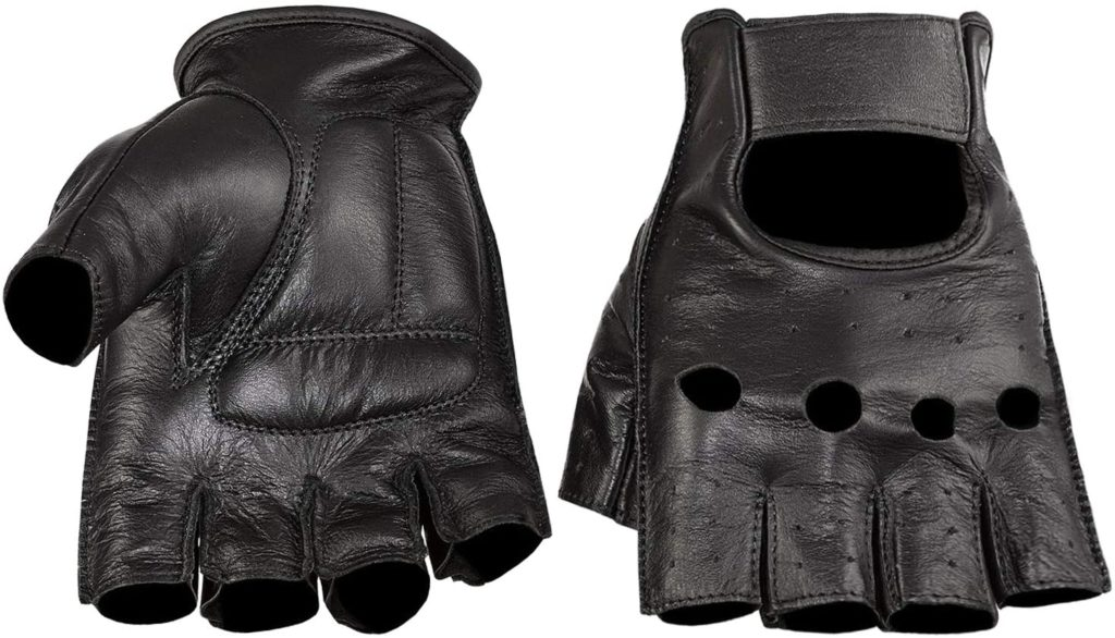 Viking Cycle Leather Motorcycle Riding Gloves
