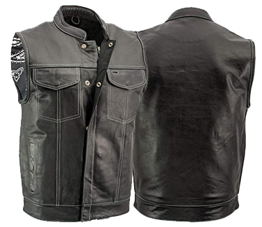Xelement 'Paisley' Leather Motorcycle Vest