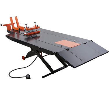 "APlusLift MT1500X 1,500 lb. Air-Operated 48"" Motorcycle Lift Table for Harley"