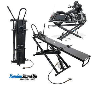Kendon Folding Stand-Up Motorcycle Lift Table for Harley