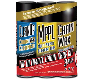 Maxima 70-749203-3PK Chain Wax Ultimate Chain Care Aerosol Combo Kit   Best Motorcycle Chain Lube